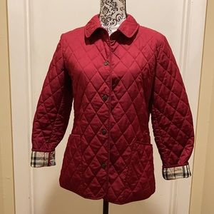 Burberry London Constance Red Quilted Jacket XS